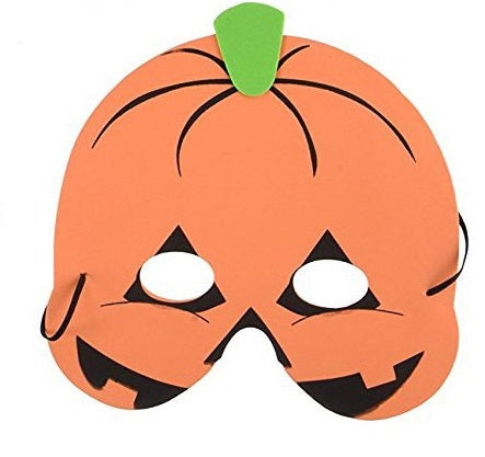 Foam Halloween Mask, Pumpkin