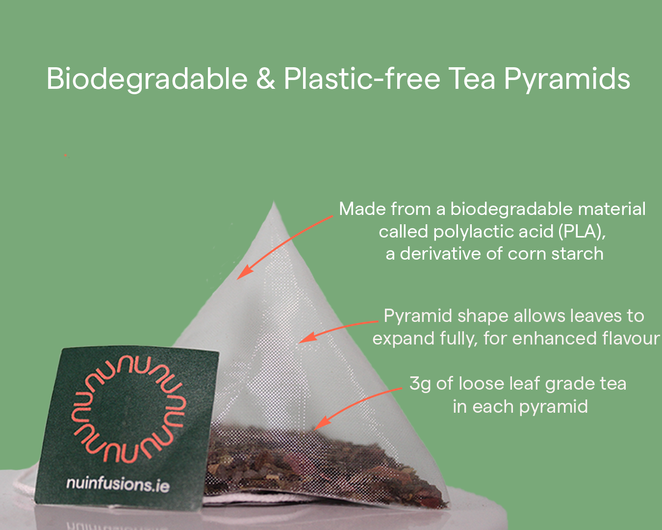 Biodegradable Tea Pyramids