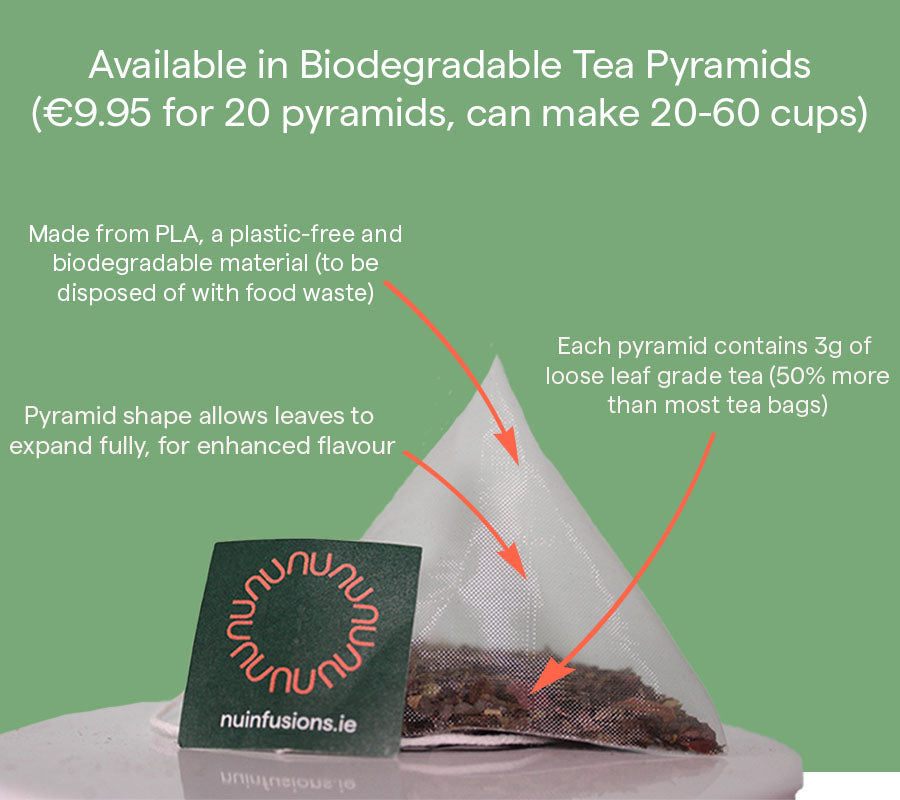 Guayusa with Cocoa & Cinnamon | 20 Biodegradable Tea Pyramids