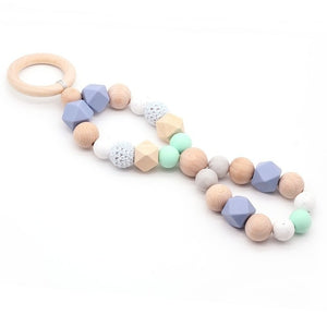 NEW Play Gym Accessorie 3pc Chew Baby Food grade Silicone Beads