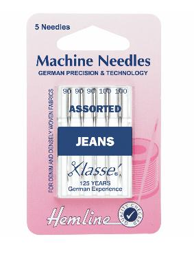 Sewing Machine Needles: Jeans: Heavy Mixed: 5 Pieces-Hemline-Loubodu Fabrics (2504400994389)