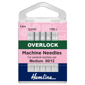 Overlocker Machine Needles: Type J: 80/12-Hemline-Loubodu Fabrics (4519879311445)