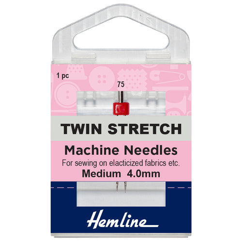 Twin Stretch Machine Needle: 75/11, 4mm-Hemline-Loubodu Fabrics