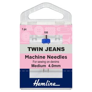 Twin Jeans Machine Needle: 100/16, 4mm-Hemline-Loubodu Fabrics (2632075903061)