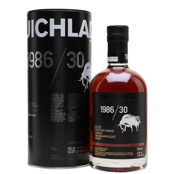 Bruichladdich 1986/30 Sherry: The Magnificent Seven Scotch Bruichladdich