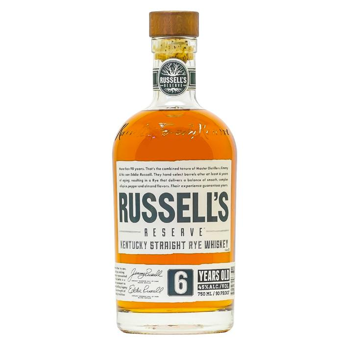 Russell's Reserve 6 Year Old Rye Rye Whiskey Russell's Reserve