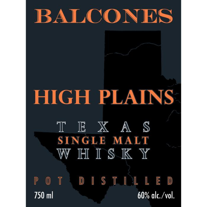 Balcones High Plains Single Malt Whiskey Balcones