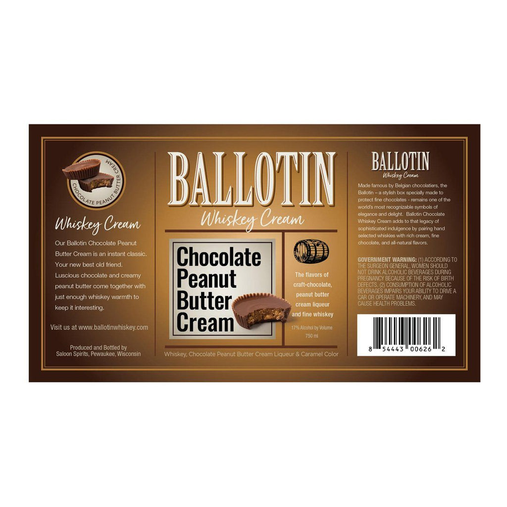 Ballotin Chocolate Peanut Butter Cream Flavoured Whiskey Ballotin Whiskey