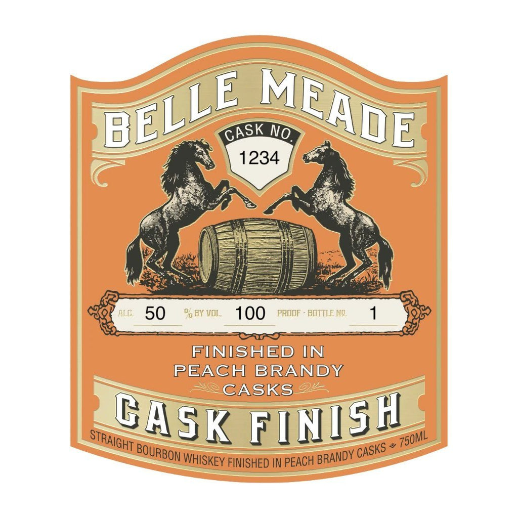 Belle Meade Peach Brandy Cask Finish Straight Bourbon Whiskey Belle Meade Bourbon