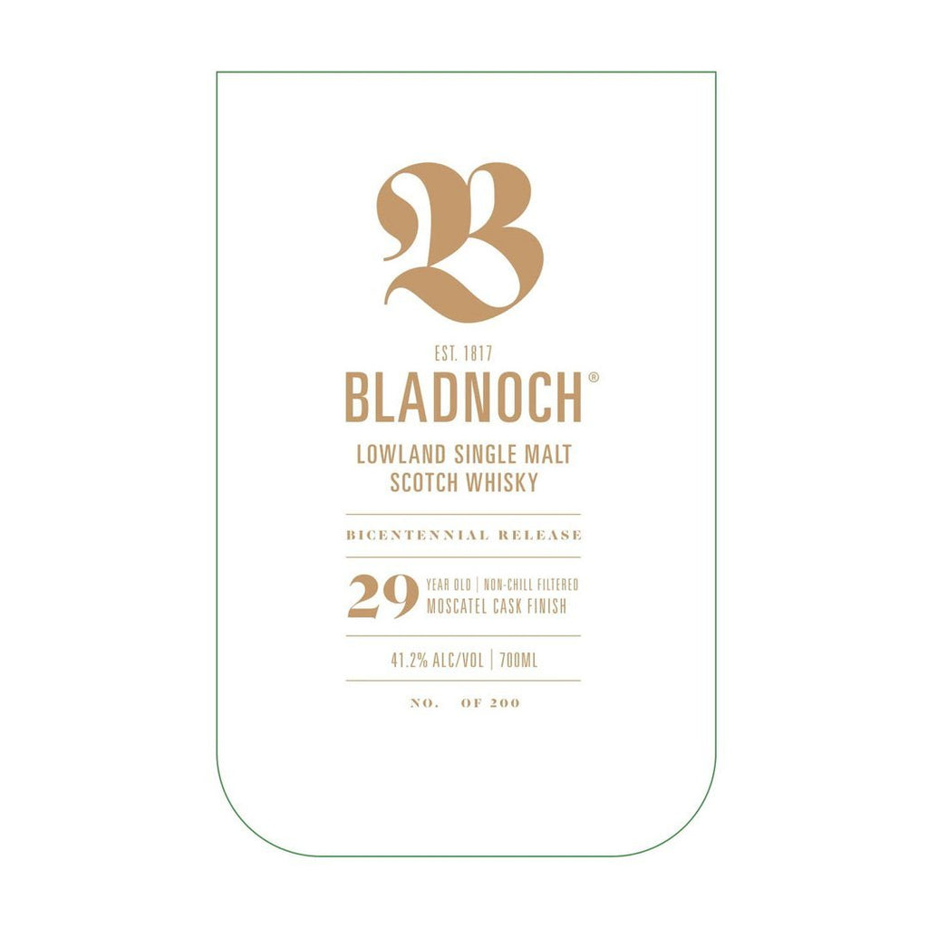 Bladnoch 29 Year Old Single Malt Scotch Whisky Bladnoch Distillery