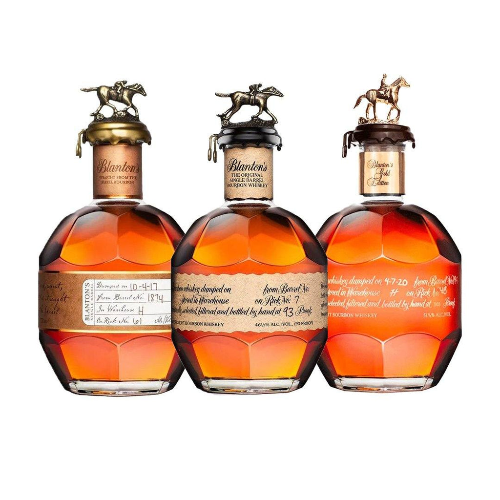 Blanton's Original Single Barrel, Blanton's Gold Edition 700ml, Blanton's Straight From The Barrel 700ml Special Blanton's Original Single Barrel, Blanton's Gold Edition 700ml, Blanton's Straight From The Barrel 700ml Special Sip Whiskey