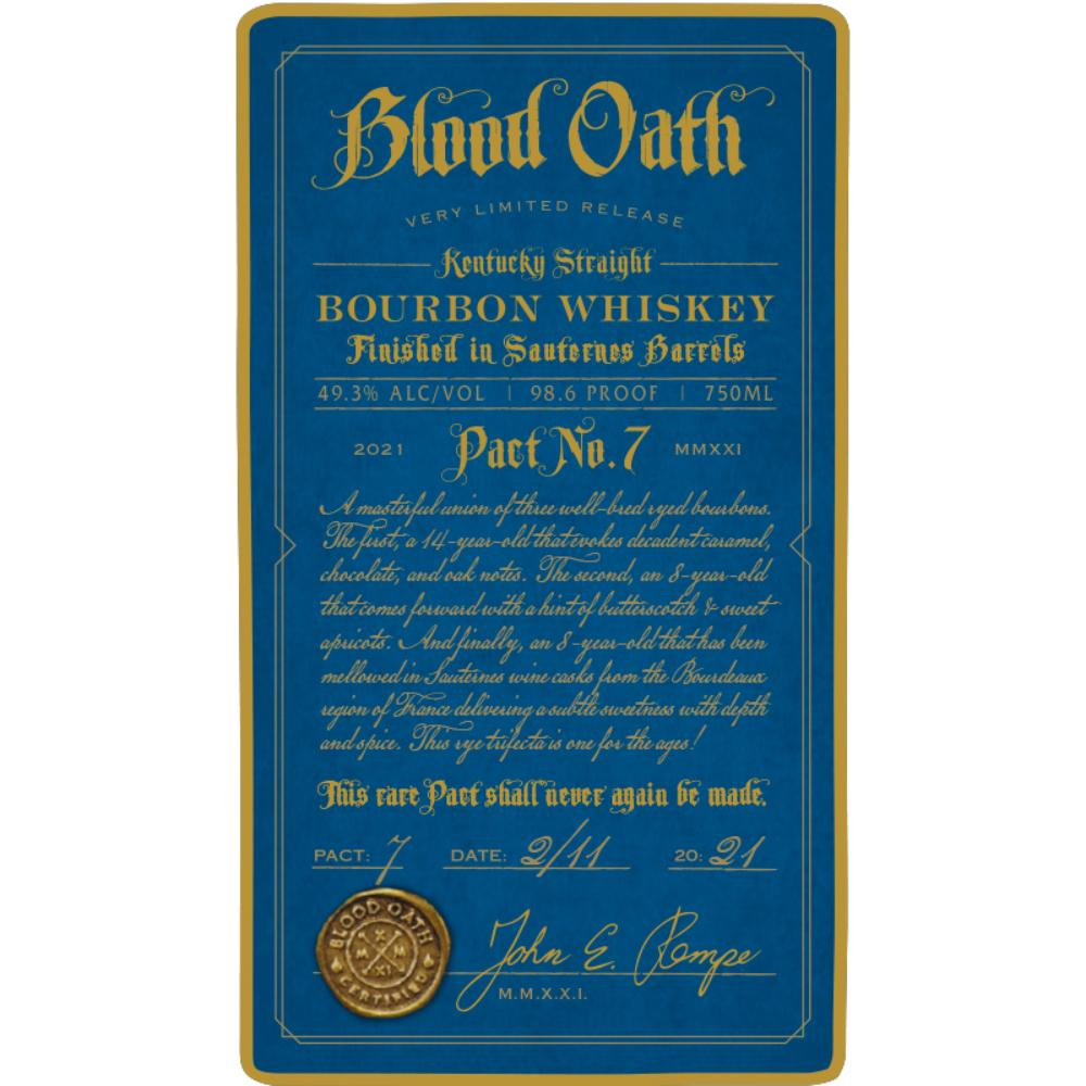 Blood Oath Pact No. 7 Bourbon Blood Oath