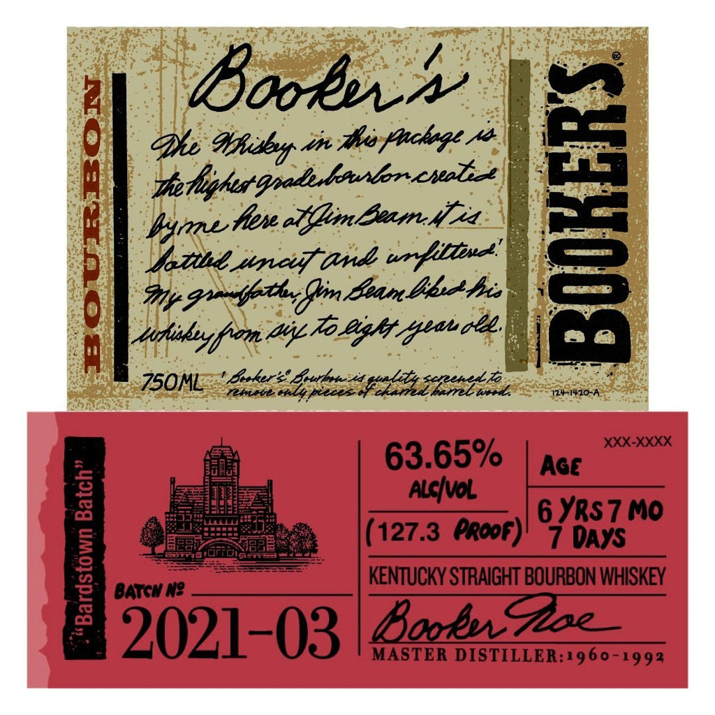 Booker's Bourbon Bardstown Batch 2021-03 Kentucky Straight Bourbon Whiskey Booker's Bourbon