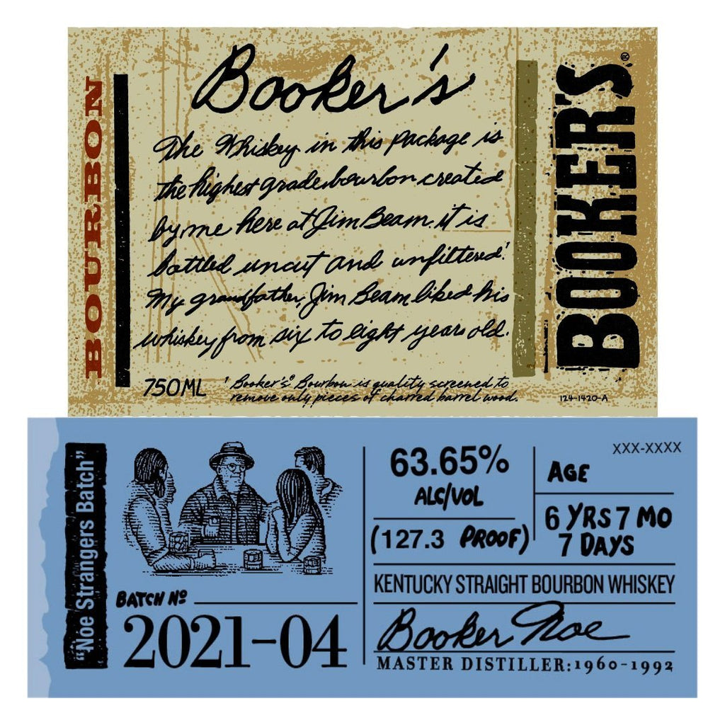 Booker's Bourbon Noe Strangers Batch 2021-04 Kentucky Straight Bourbon Whiskey Booker's Bourbon