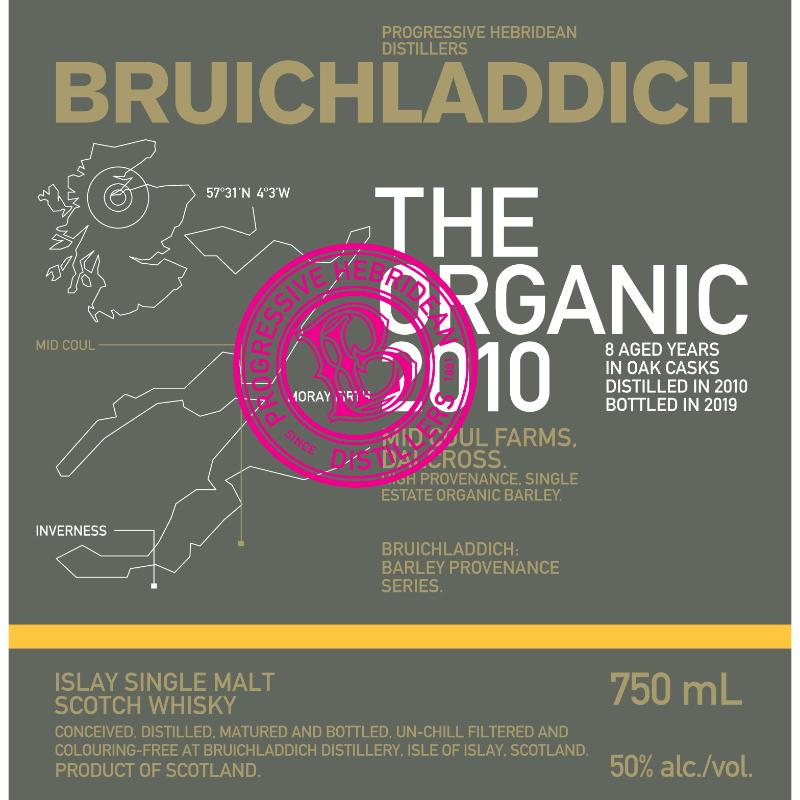 Bruichladdich The Organic 2010 Scotch Bruichladdich