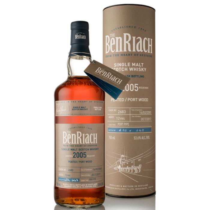 BenRiach 12 Year Old Peated Port Wood Finish Single Cask #2683 Scotch BenRiach