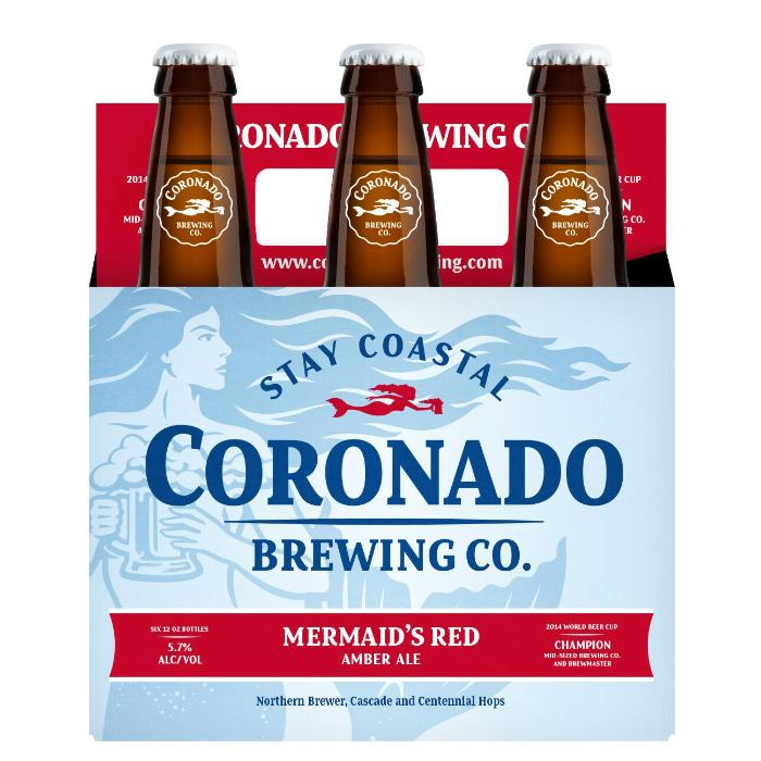 Coronado Brewing Company Mermaid's Red Beer Coronado Brewing