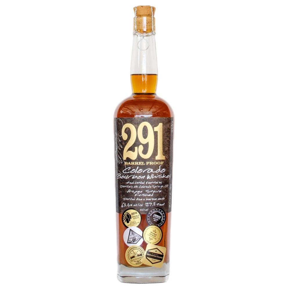 291 Colorado Bourbon Whiskey, Barrel Proof, Single Barrel Bourbon 291 Colorado Whiskey