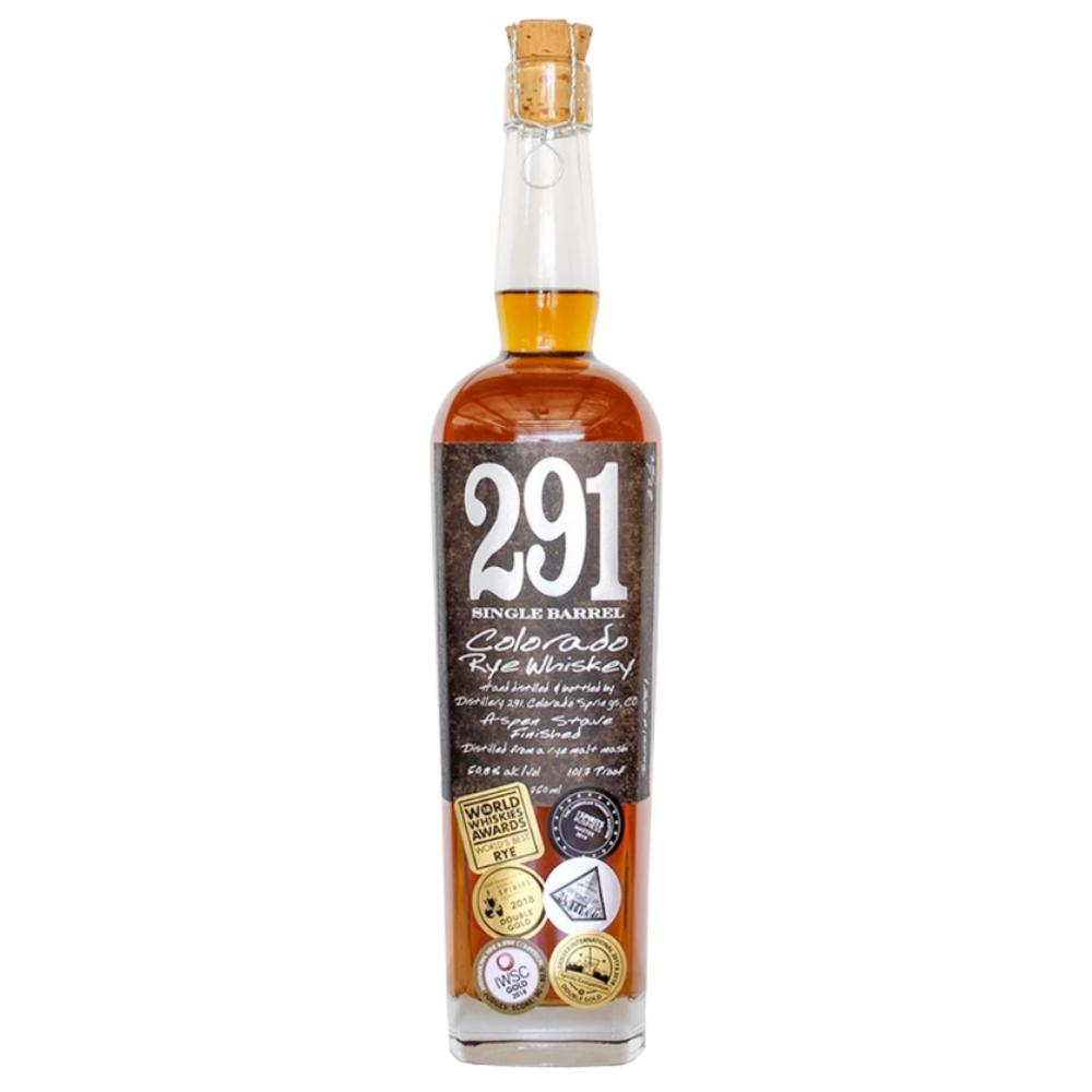291 Colorado Rye Whiskey, Single Barrel Rye Whiskey 291 Colorado Whiskey