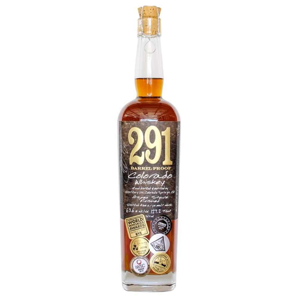 291 Colorado Whiskey, Barrel Proof, Single Barrel American Whiskey 291 Colorado Whiskey