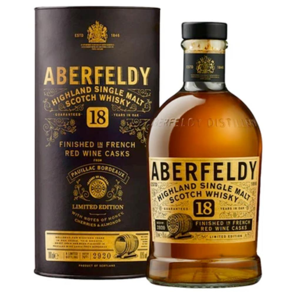 Aberfeldy 18 Year Old Limited Edition Scotch Aberfeldy