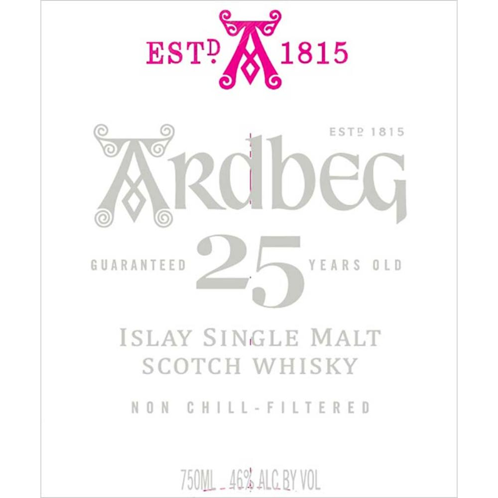 Ardbeg 25 Years Old Scotch Ardbeg