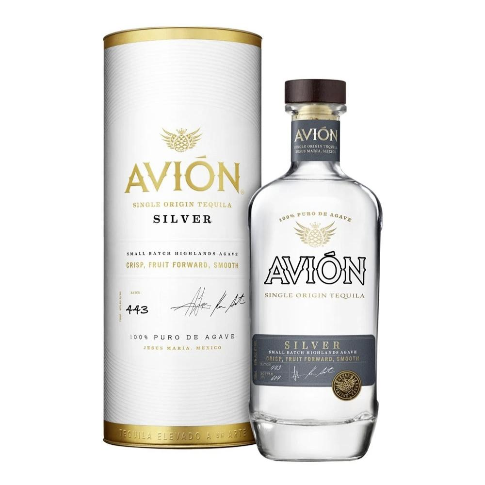 Avión Silver with Canister Tequila Avión Tequila