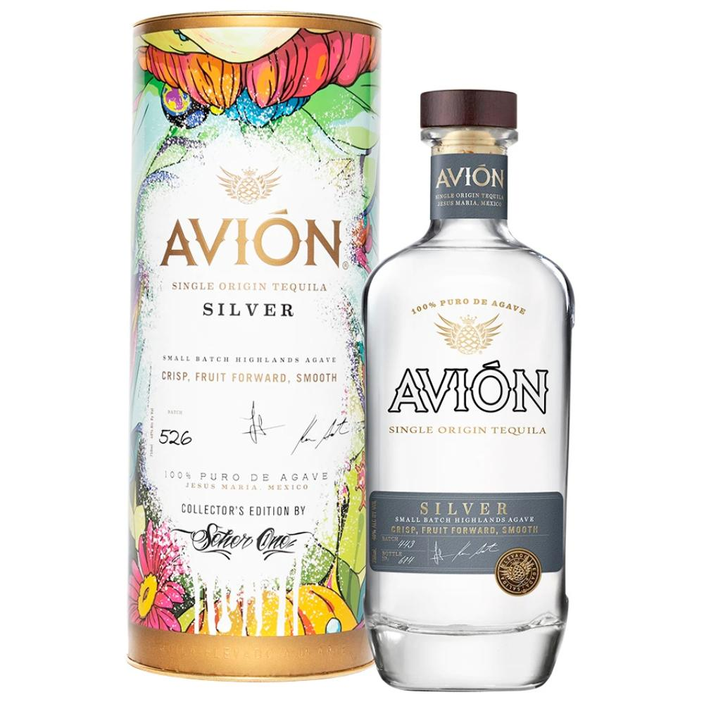 Avión Silver with Collector's Edition Canister Tequila Avión Tequila