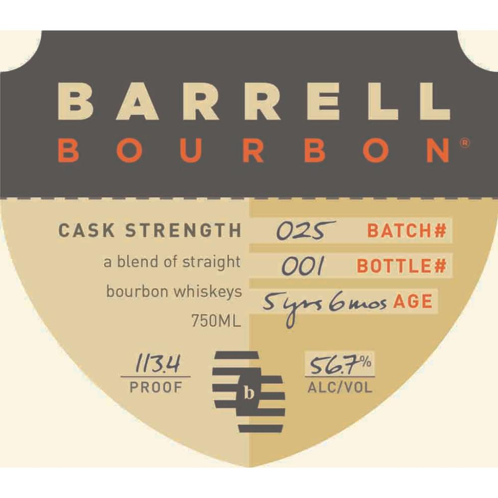 Barrell Bourbon Batch 025 Bourbon Barrell Craft Spirits