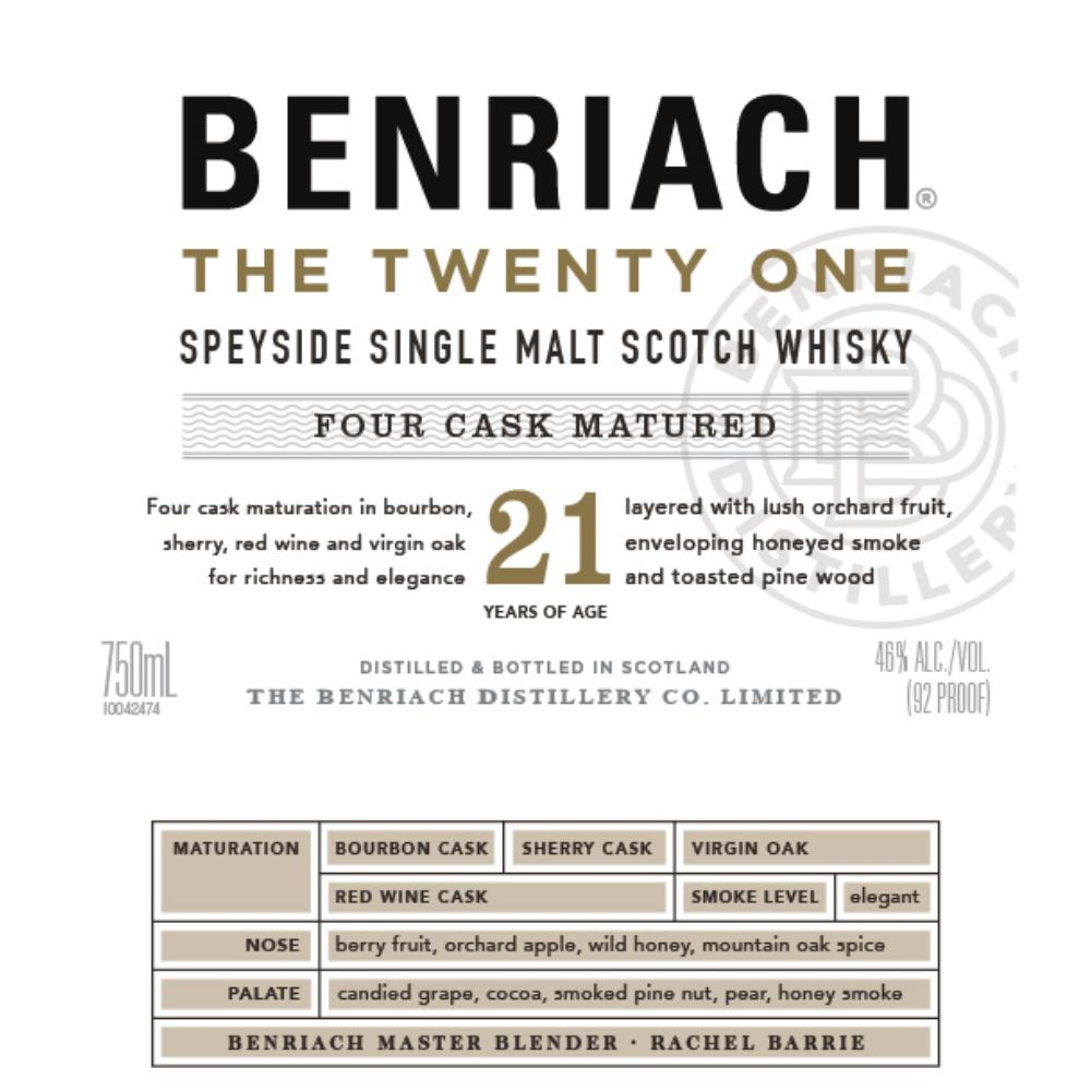 BenRiach The Twenty One Scotch BenRiach