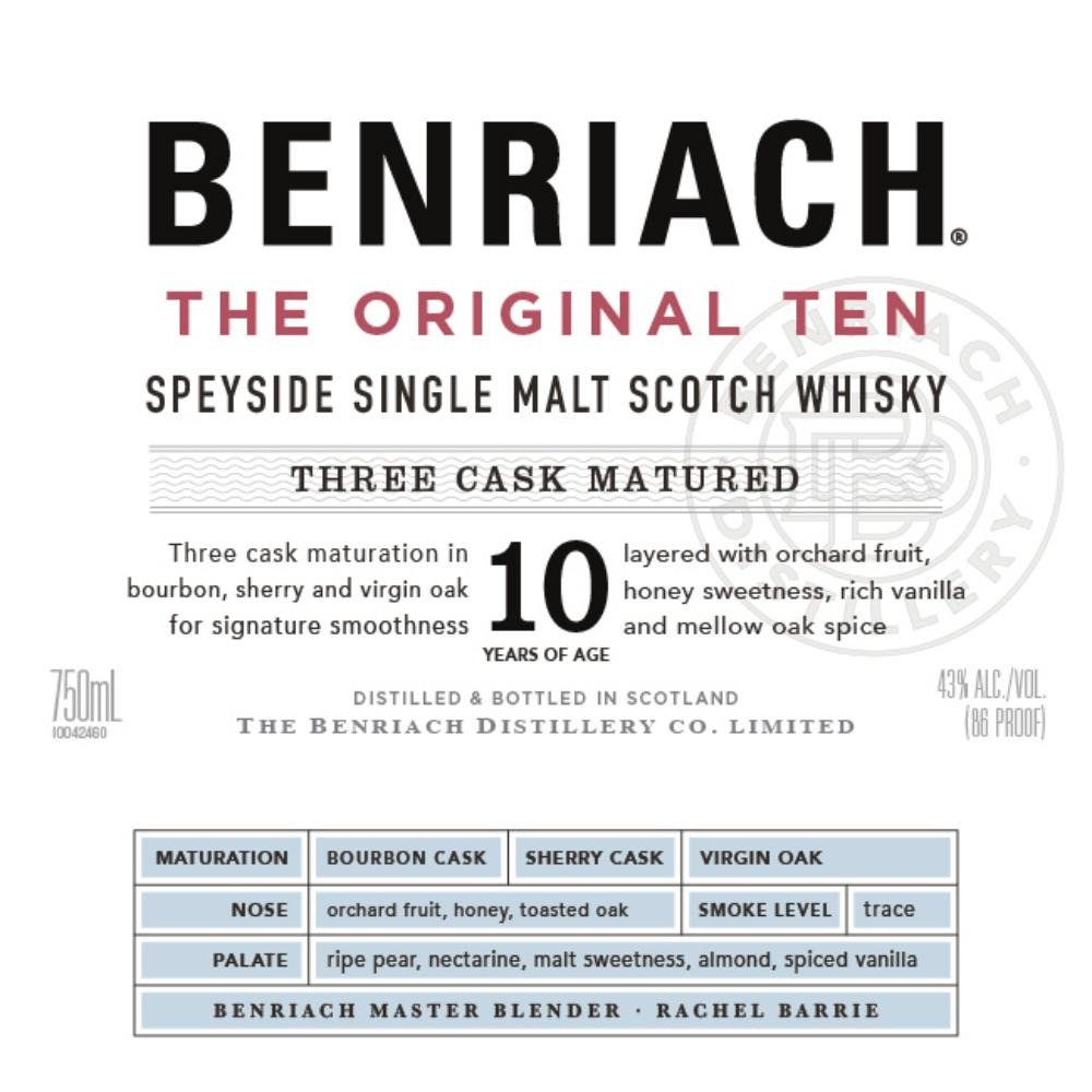 BenRiach The Original Ten Scotch BenRiach