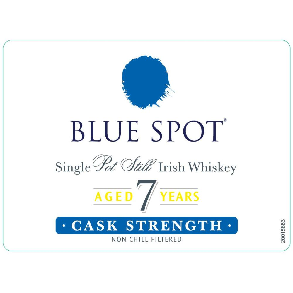 Blue Spot 7 Year Old Cask Strength Irish whiskey Spot Whiskey