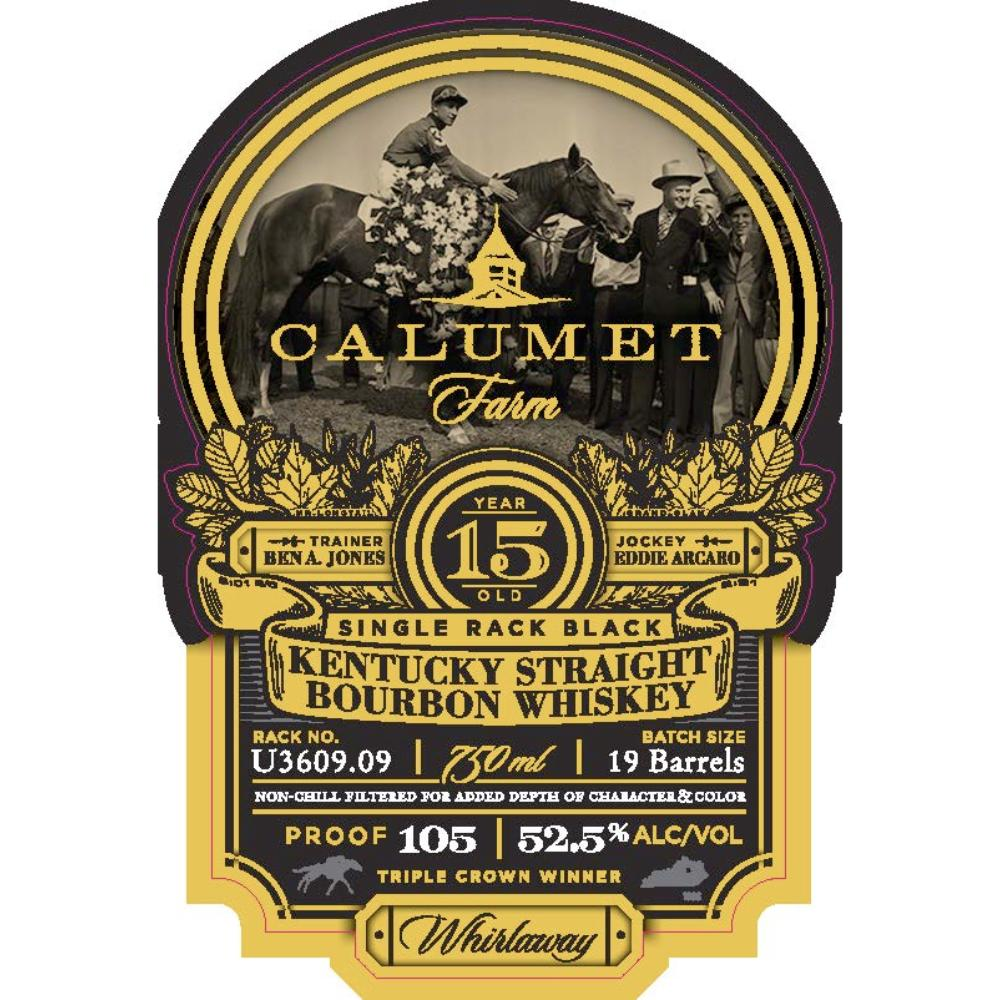 Calumet Farm 15 Year Single Rack Black Bourbon Bourbon Calumet Farm
