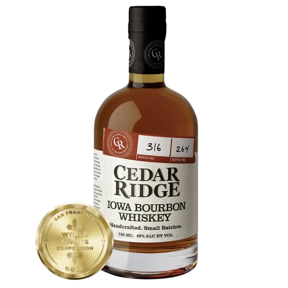 Cedar Ridge Iowa Bourbon Whiskey American Whiskey Cedar Ridge Distillery