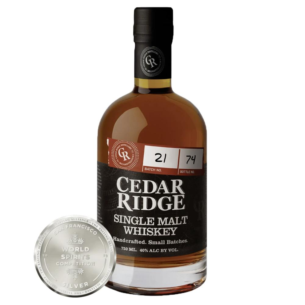 Cedar Ridge Single Malt Whiskey American Whiskey Cedar Ridge Distillery