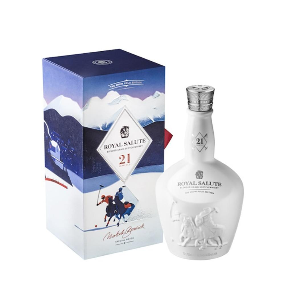 Chivas Regal Royal Salute 21 Year Old Snow Polo Edition Scotch Chivas Regal