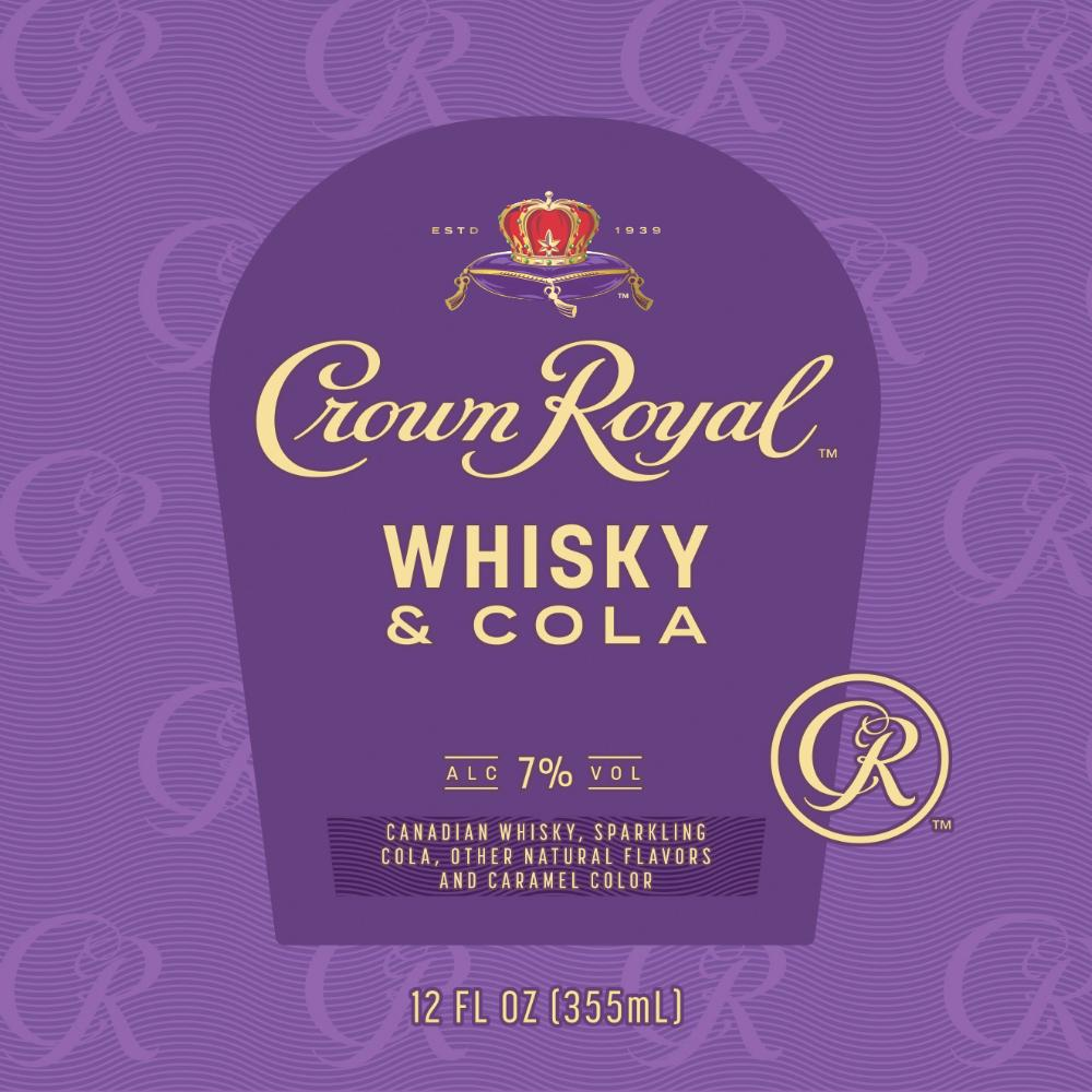 Crown Royal Whiskey & Cola Canned Cocktails Crown Royal