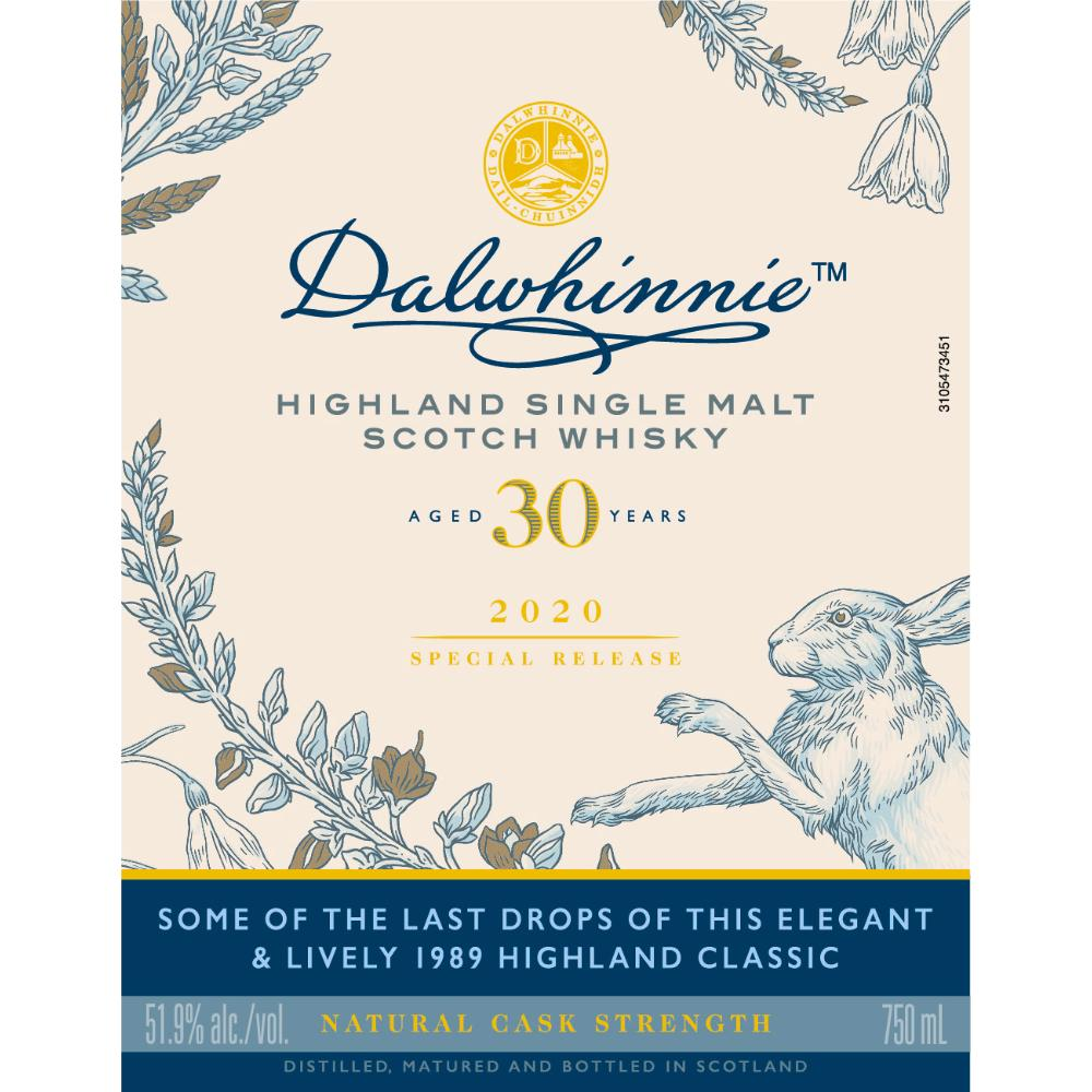 Dalwhinnie 30 Year Old 2020 Special Release Scotch Dalwhinnie