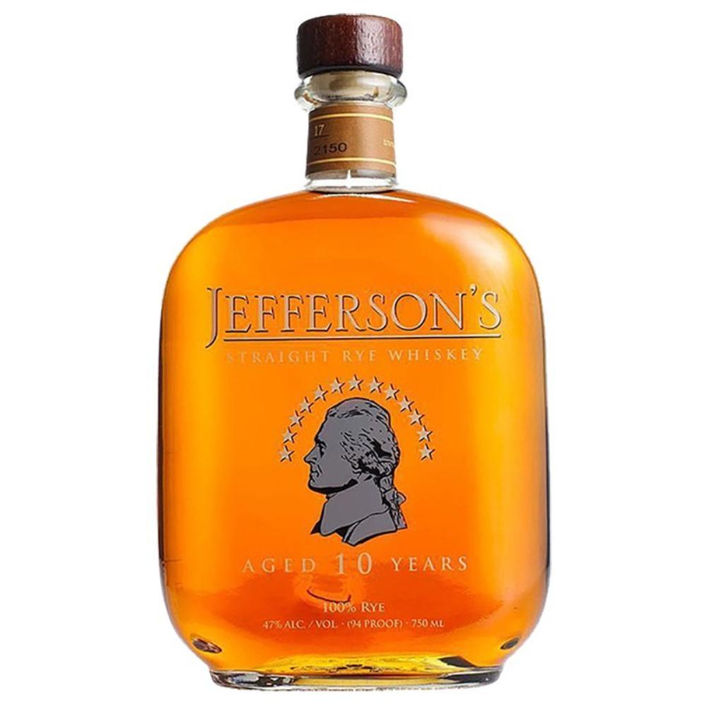 Jefferson's 10 Year Old Rye Whiskey Rye Whiskey Jefferson's