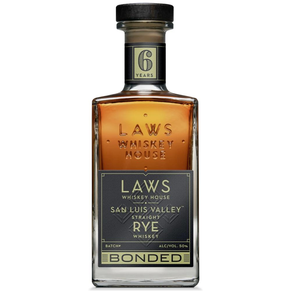 Laws San Luis Valley Straight Rye Bottled in Bond 6 Years Rye Whiskey Laws Whiskey House