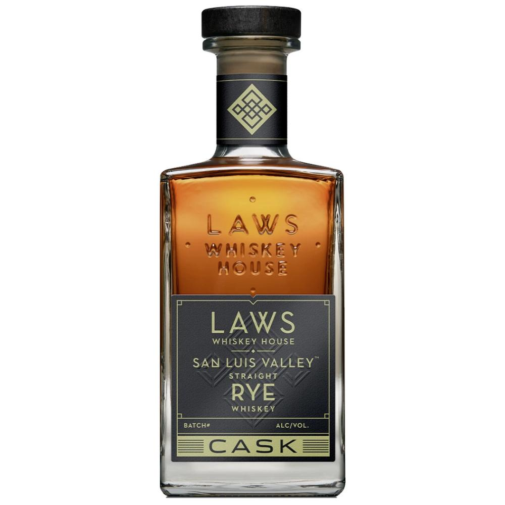 Laws San Luis Valley Straight Rye Cask Strength Rye Whiskey Laws Whiskey House