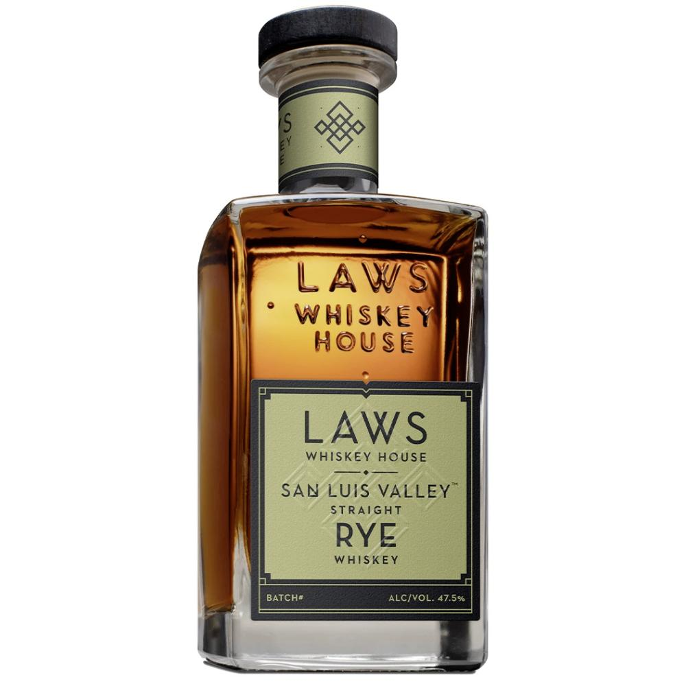 Laws San Luis Valley Straight Rye Rye Whiskey Laws Whiskey House