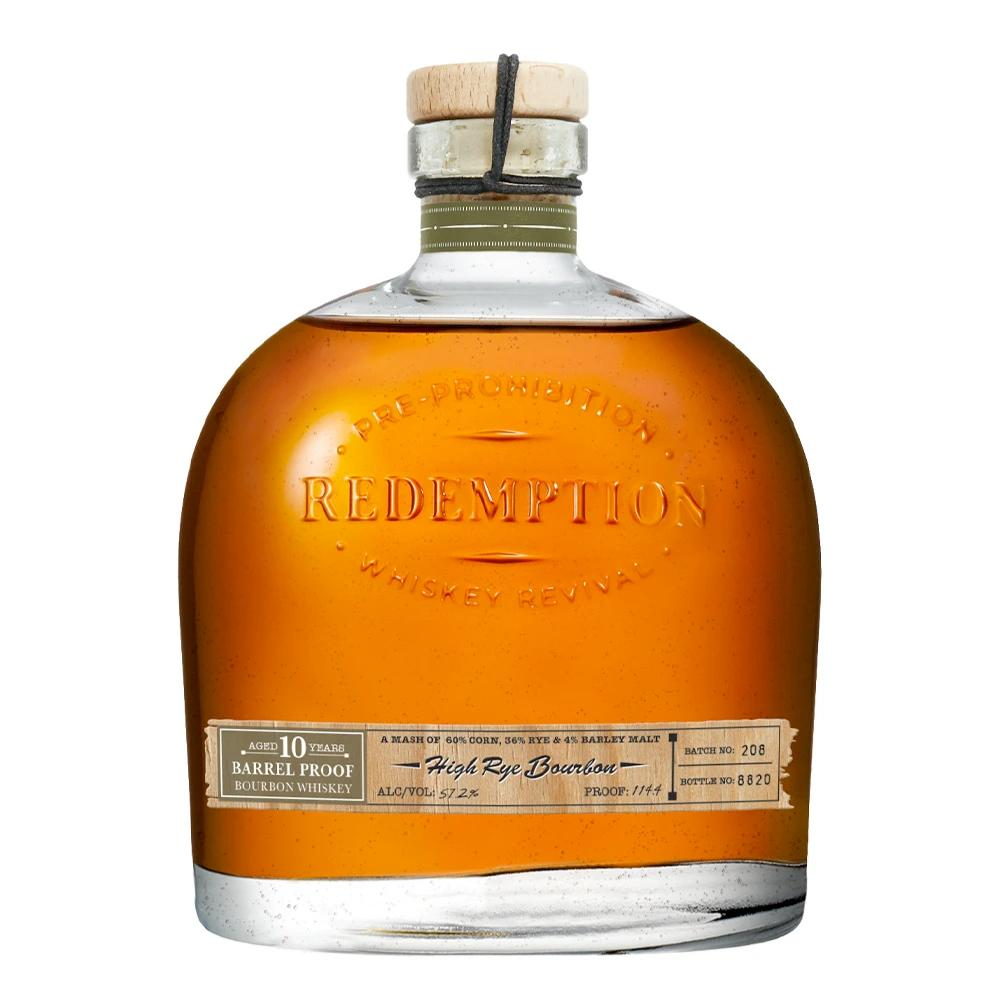 Redemption 10 Year Old Barrel Proof High Rye Bourbon Rye Whiskey Redemption