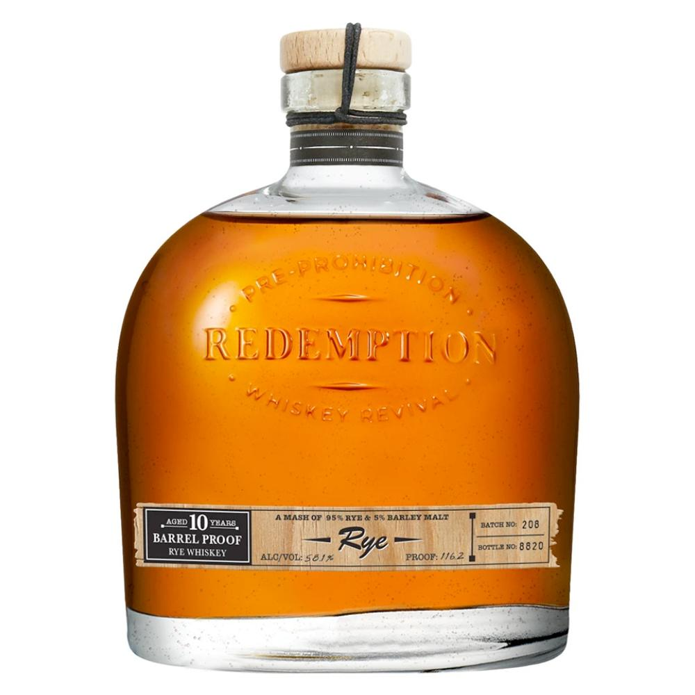 Redemption 10 Year Old Barrel Proof Rye Rye Whiskey Redemption