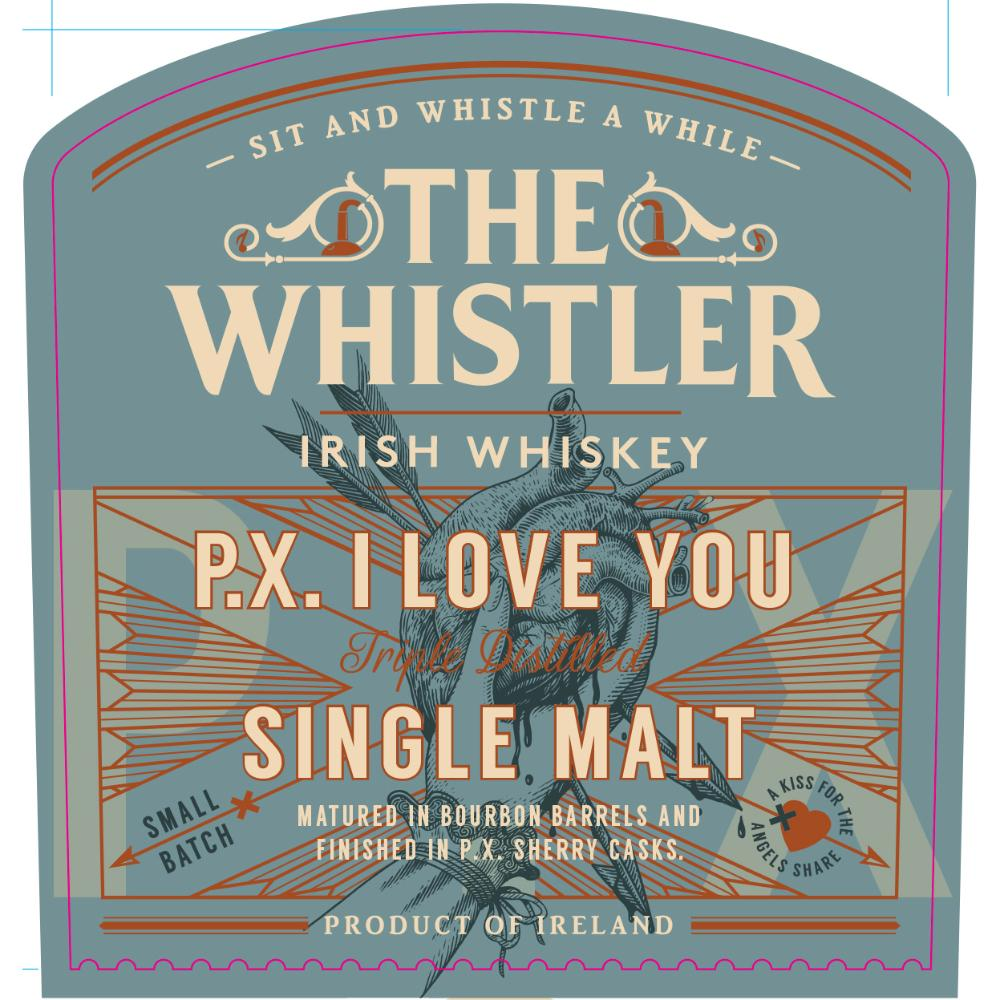 The Whistler P.X. I love You Irish whiskey The Whistler Irish Whiskey