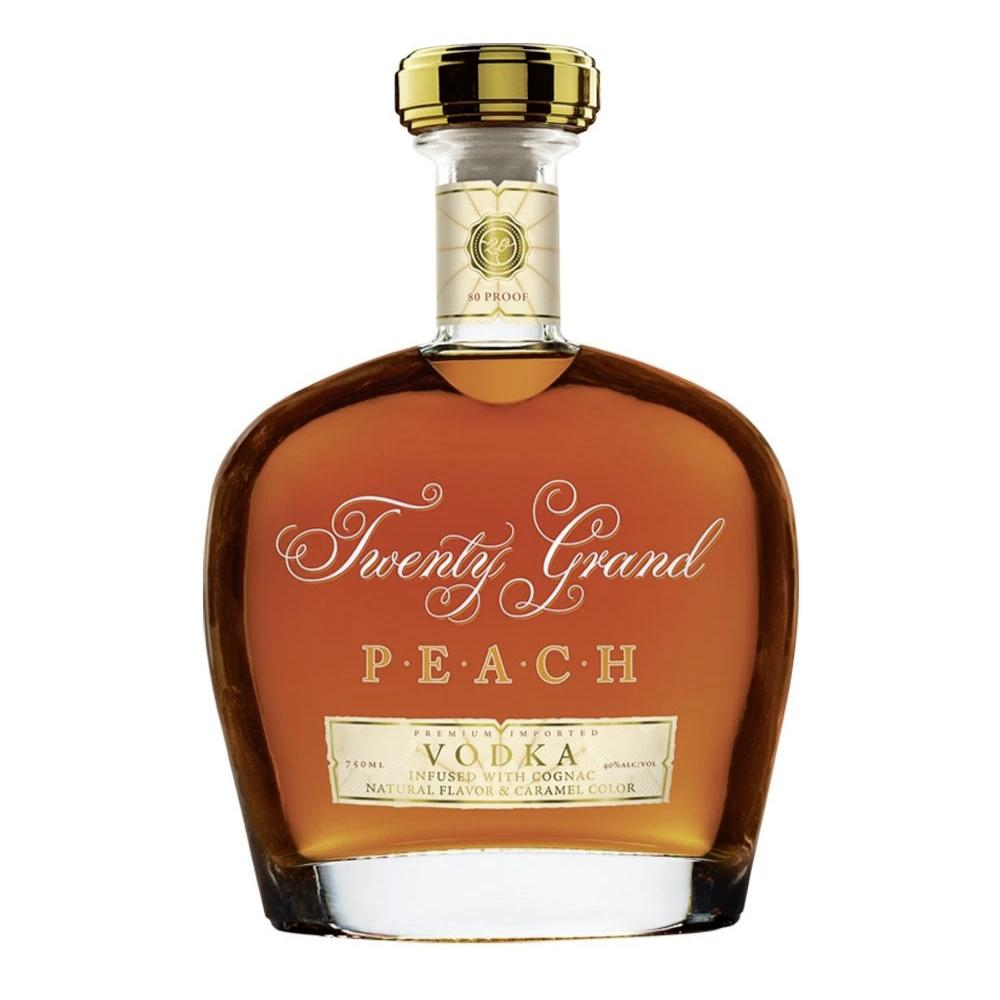 Twenty Grand PEACH VODKA Infused with Cognac Vodka Twenty Grand