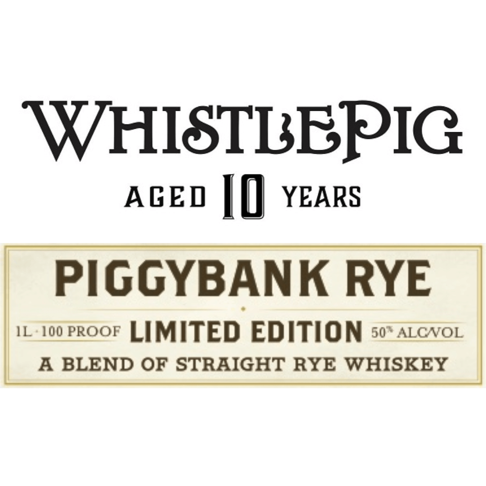 WhistlePig PiggyBank 10 Year Old Rye Rye Whiskey WhistlePig