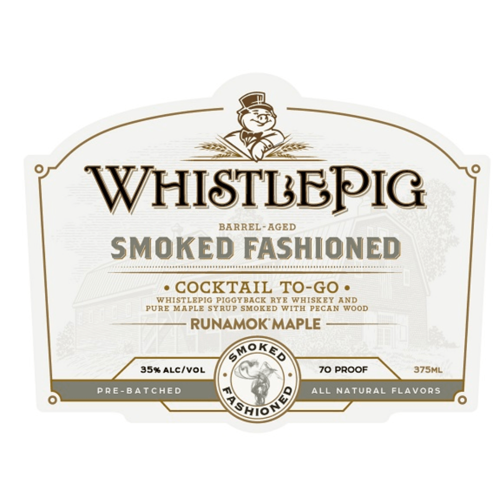 WhistlePig Smoked Fashioned Cocktail To-Go Canned Cocktails WhistlePig