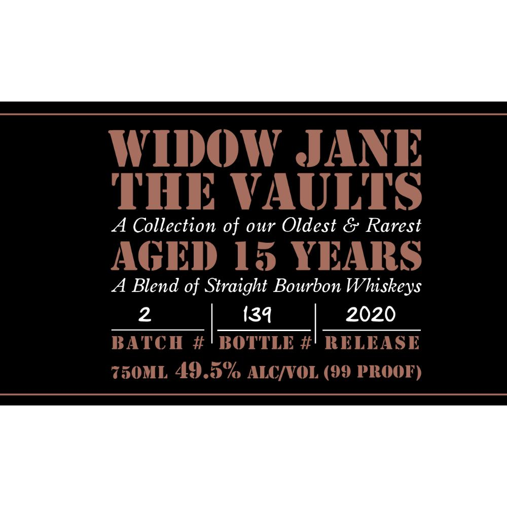 Widow Jane The Vaults 2020 Edition Bourbon Widow Jane