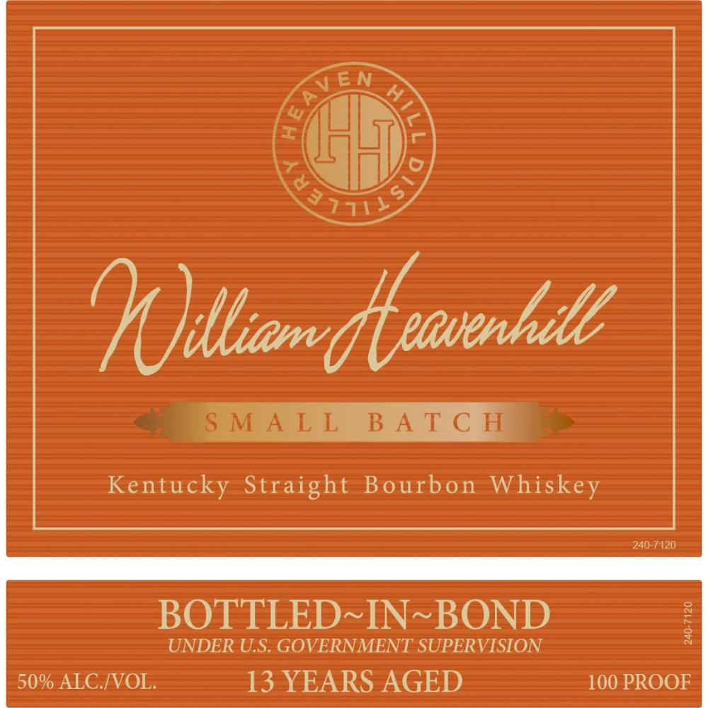 William Heavenhill Bottled In Bond 13 Year Old Bourbon Heaven Hill Distillery